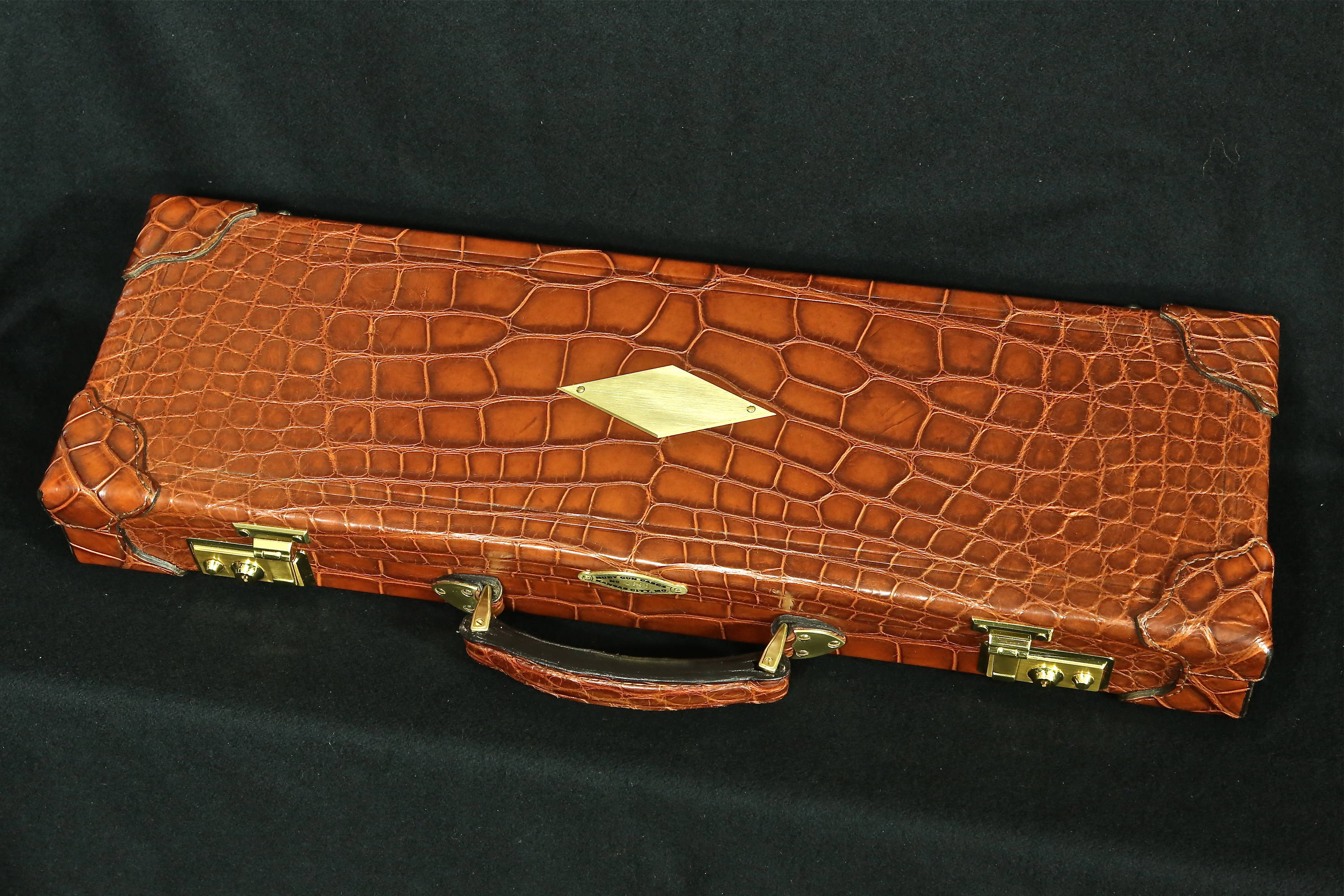 Alligator bound case for large Bowie knife