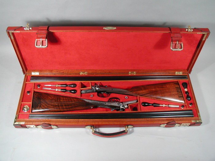 Two-gun case for small guns